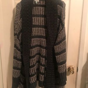 Black and gray striped cardigan